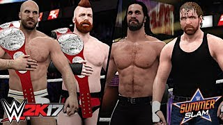 After weeks of dealing with the Raw Tag Team Champions and conflict between two former Shield brothers, Rollins and Ambrose have finally reunited and both have been set to face Sheamus and Cesaro for the Raw Tag Team Championship at WWE SummerSlam 2017!Show some love by leaving a like, sharing and subscribing for more awesome videos like these!OUTRO MUSIC: Undertaker's Rollin Theme Cover by JAYDEGARROWJAYDEGARROW's YouTube: https://www.youtube.com/channel/UCit4zHRRYaU5Og8ZHqvA7jQFOLLOW ME HERE:Facebook: https://www.facebook.com/julian.rosado.14Twitter: https://twitter.com/Jules1451Instagram: https://www.instagram.com/jules1451/Snapchat: @Jules1451Want to see more WWE 2K16 & WWE 2K17 Content? Visit this link for more! http://www.thesmackdownhotel.com