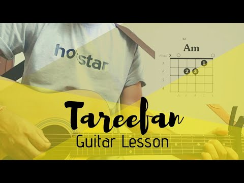 Tareefan (Reprise) Guitar Lesson /Tutorial - Veere Di Wedding