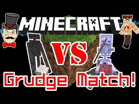 Minecraft 1.8 ENDERMAN vs SPIDER JOCKEY Mob Grudge Battle !