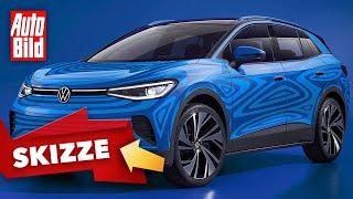 VW ID.4 (2020): Neuvorstellung - SUV - Elektro - Info - deutsch by Auto Bild