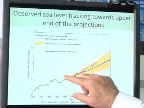 How are sea level rise projections made?
