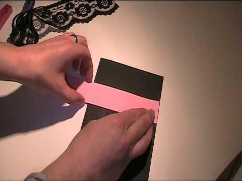 Glückwunschkarte mit Spitze basteln - Video