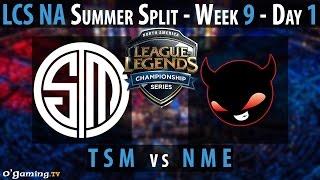 Enemy esports vs Team SoloMid - LCS NA 2015 - Summer Split - Week 9 - Day 1 - NME vs TSM [FR]