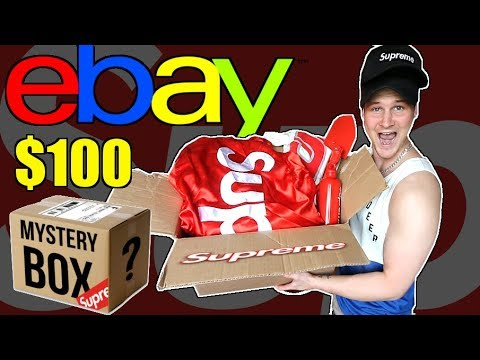 WHATS INSIDE EBAY'S $100 SUPREME MYSTERY BOX!! $750 WORTH OF HYPEBEAST ITEMS!