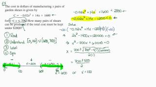 Intermediate Algebra - Quadratic Inequalities (Part D)