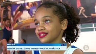 Jovem talento da ginástica artística de Marília conquista vaga no Pinheiros e sonha com olimpíada