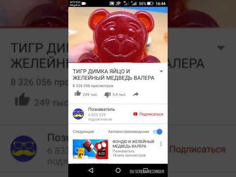 ТИГР ДИМКА ЯЙЦО И ЖЕЛЕЙНЫЙ медведь ВАЛЕРА - DomaVideo.Ru