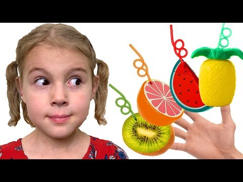 Mania makes Fruit Smoothies   Color Song Nursery Rhymes - Youtube