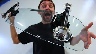 Video KICKFLIPPING A GLASS SKATEBOARD WITH GLASS WHEELS?! | YOU MAKE IT WE SKATE IT EP 72 MP3, 3GP, MP4, WEBM, AVI, FLV Oktober 2017