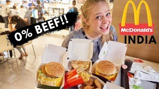 Video 0% BEEF?! What McDonalds in India is Like MP3, 3GP, MP4, WEBM, AVI, FLV Agustus 2018