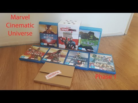 Marvel Cinematic Universe Phase 1 Blu-ray/DVD 16 Disc Collection