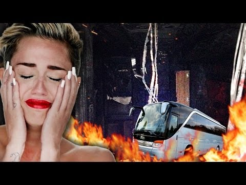 Miley Cyrus' Tour Bus Burns Down!