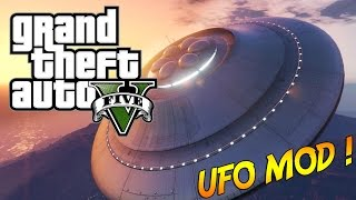 Video UFO MOD (GTA V MOD) | Pilote un vaisseau spatial sur GTA  ! MP3, 3GP, MP4, WEBM, AVI, FLV Agustus 2017