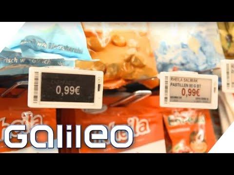 Wie funktionieren die elektronischen Preisschilder? | Galileo | ProSieben