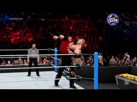WWE 2K15 PC Gameplay: Summerslam 2015 The Undertaker Vs Brock Lesnar