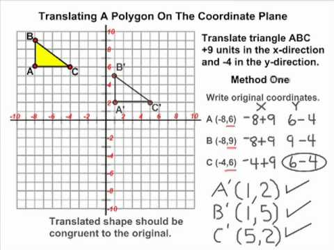 translation - This tutorial reviews how to perform a translation on the coordinate plane using a triangle. Test your knowledge of transformations by visiting http://www.mr...