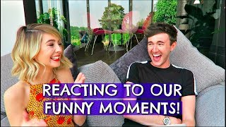 Video ME & ZOE REACTING TO OUR FUNNY MOMENTS! MP3, 3GP, MP4, WEBM, AVI, FLV September 2018