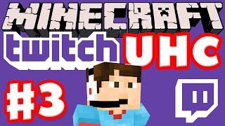 Minecraft Twitch UHC Part 3 (Ultra Hardcore Minecraft Live on Twitch with Facecam)