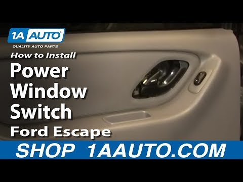 How To Install Replace Rear Power Window Switch Ford Escape 01-07 1AAuto.com