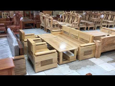 Sofa mẫu đối 7 món gỗ Sồi Nga