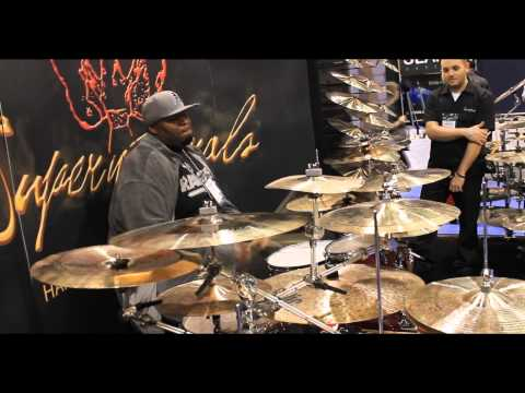 Thomas McCree at Namm 2013 Supernatural Cymbals