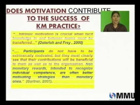 MOTIVATION IN RELATION TO KNOWLEDGE MANAGEMENT