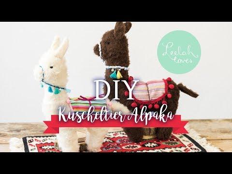 DIY - Alpaka Kuscheltier nähen