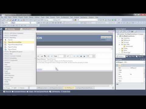 ASP.NET Reporting - Document Map & Parameter Panels