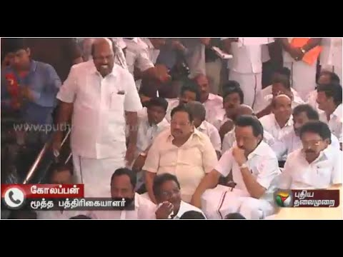 kolappan-talks-about-DMK-MLAs-Dharna-Protest-for-Suspension-in-front-of-TN-Assembly