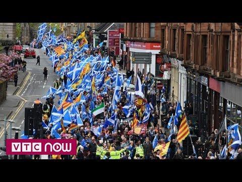 Biểu tình đòi độc lập tại Scotland - Thời lượng: 42 giây.