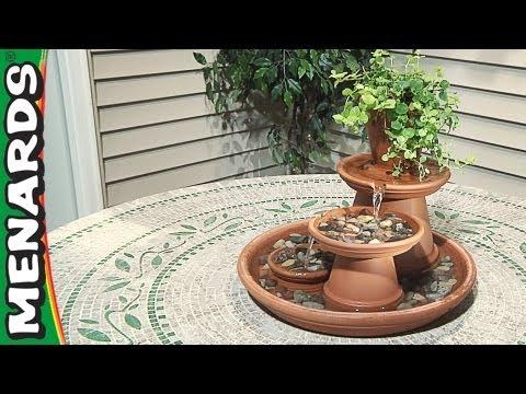 Делаем фонтан из цветочных горшков