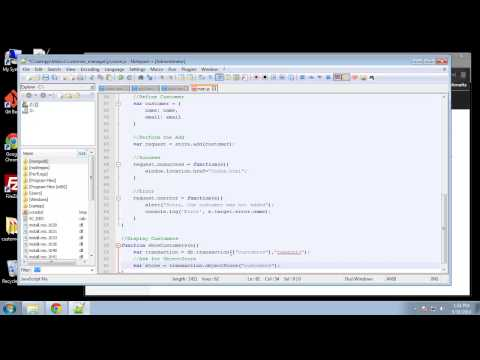 Projects in HTML5 – Chapter 58 – Add and Get Customers