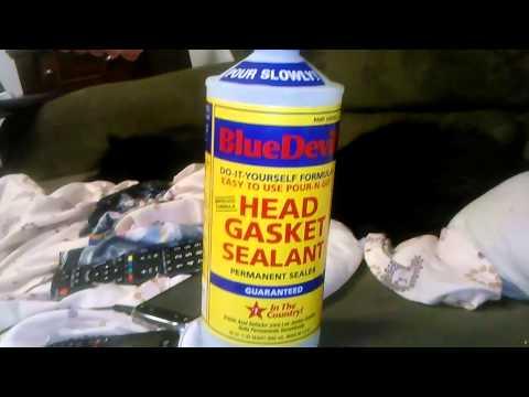 Blue devil head gasket sealant Works!