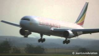 Boeing 767-300 Ethiopian Airlines Landing At Brussels Airport