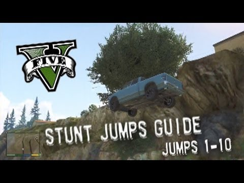 jumps - Grand Theft Auto V - Stunt Jumps Guide, Part #1 - Jumps 1-10 Video Info: x360 Version of GTA V, NO CHEATS OR MODS! Recorded using HD PVR 1212 and edited with...