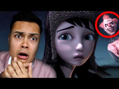 REACTING TO SCARY ANIMATIONS #3 (DO NOT WATCH AT NIGHT)