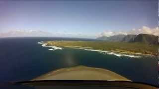 Flying Tropical Hawaii - Sea Cliffs Of Molokai Cirrus Flight