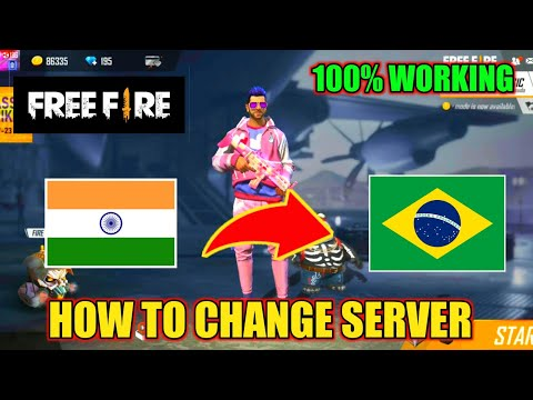 HOW TO CHANGE SERVER IN FREE FIRE // INDIA TO BRAZIL SERVER CHANGE KAISE KARNA HAI -Garena Free Fire