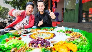 Video UNSEEN STREET FOOD in China | BEST Street Food in the WORLD + BBQ Pork  & SPICY Noodles MP3, 3GP, MP4, WEBM, AVI, FLV Mei 2019