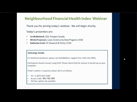 The Neighbourhood Financial Health Index