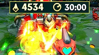 4500 FARM in 30 MINUTES! CS World Record! (League of Legends)
