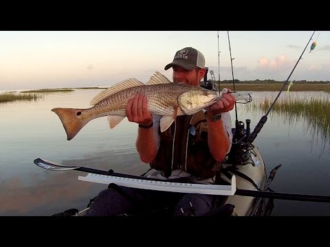 Kayak Fishing: Huge Slot Redfish Snaps Rod