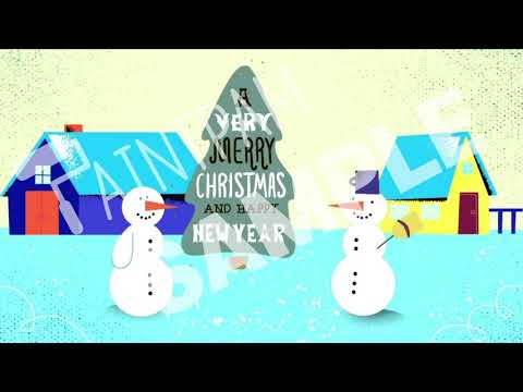 Sample_Season Event_Christmas_눈사람 트리