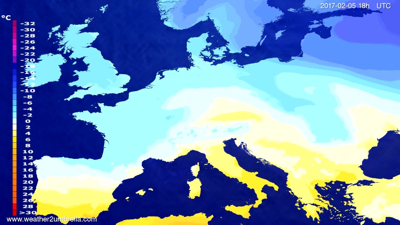 Temperature forecast Europe 2017-02-02