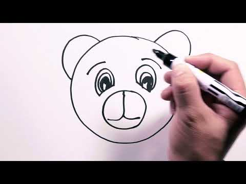 How To Draw Bear Face - Draw Easy | Freehand Easy-to-Follow Drawings