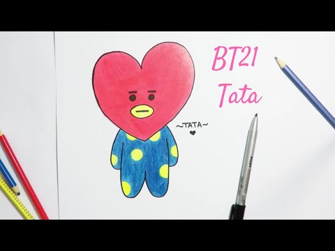 Drawing Bt21 Cooky How To Draw Easy Step By Step Drawing Tutorial