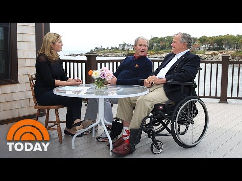 Watch Jenna Bush Hager And George W. Bush Talk Family With George H.W. Bush | TODAY