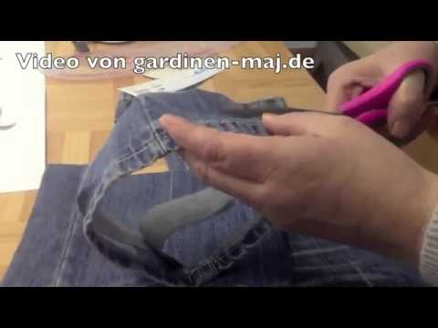 Jeans kürzen Originalsaum, Anleitung, Originalnaht  Selber nähen