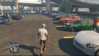 GTA 5 Online (Xbox One) | Street Car Meet | Banshee, Cruising, Sewer Drags, & More