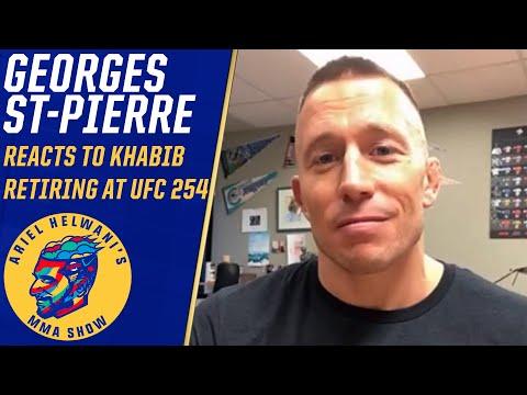 Georges St-Pierre reacts to Khabib Nurmagomedov's retirement at UFC 254 | Ariel Helwani's MMA Show